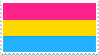 Pansexual Flag Stamp by futureprodigy24