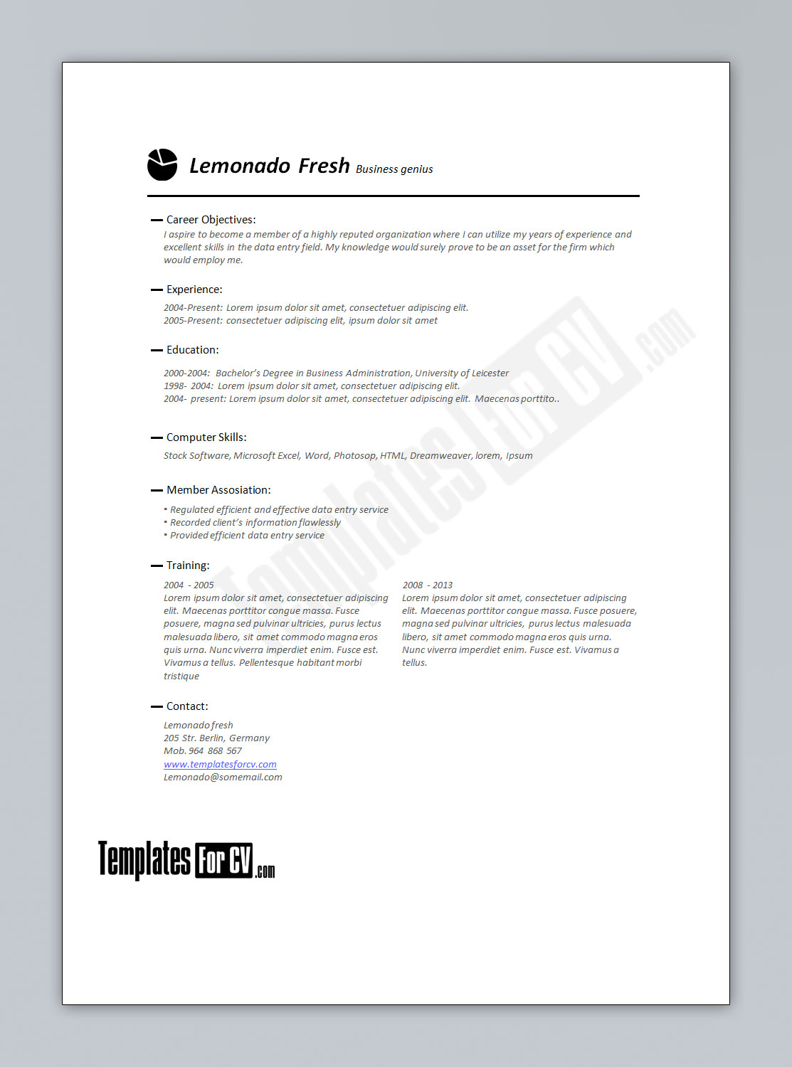 premade resume templates ideas resume template doc