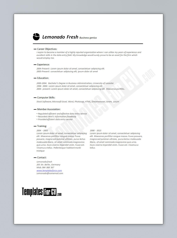 finance resume template by templatesforcv on deviantart