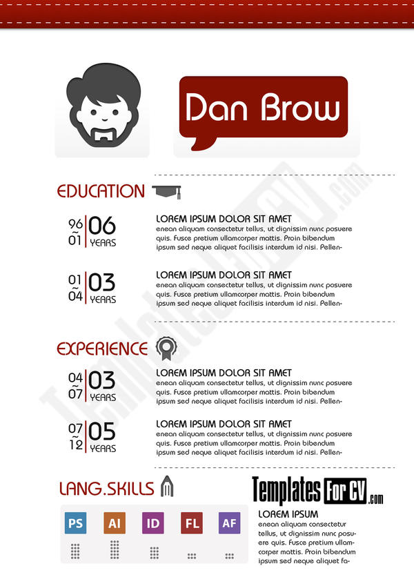 Graphic Designer Cv Sample Resume Layout Curriculum Vitae Graphic