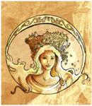 Art Nouveau Style Lady 2