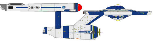 Cornerian Starship Defiant by AceNos
