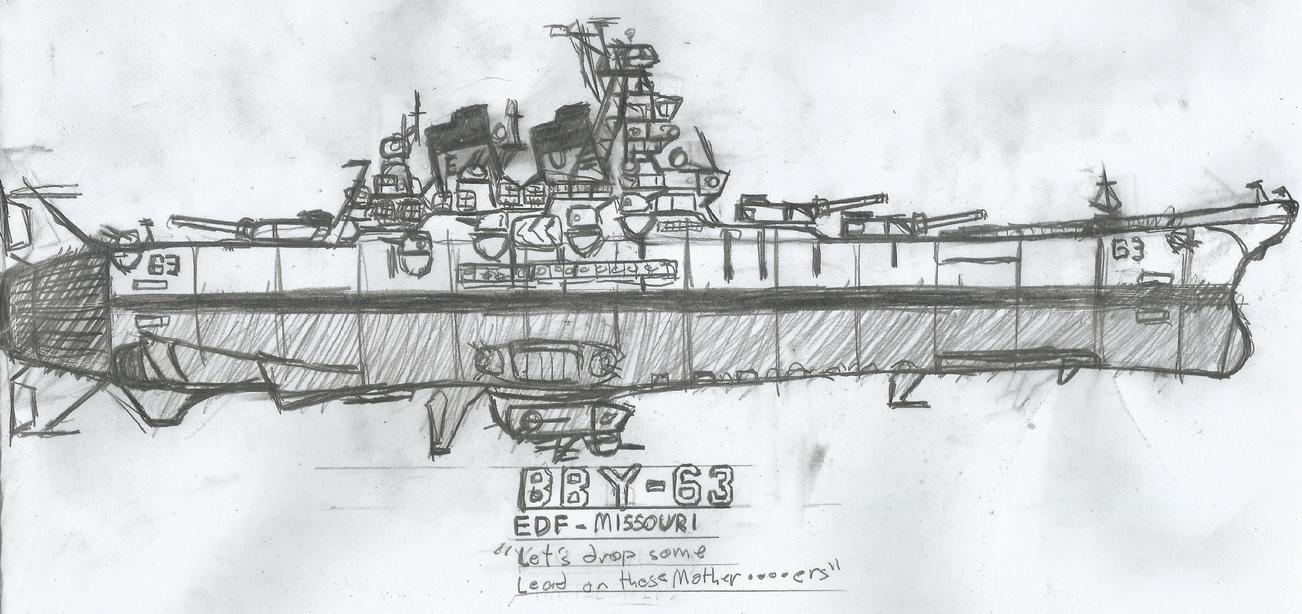 Space Battleship EDF Missouri by AceNos