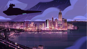 Star Destroyer Over Empire City