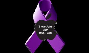 Jobs Pancreatic Cancer Ribbon by 2barquack