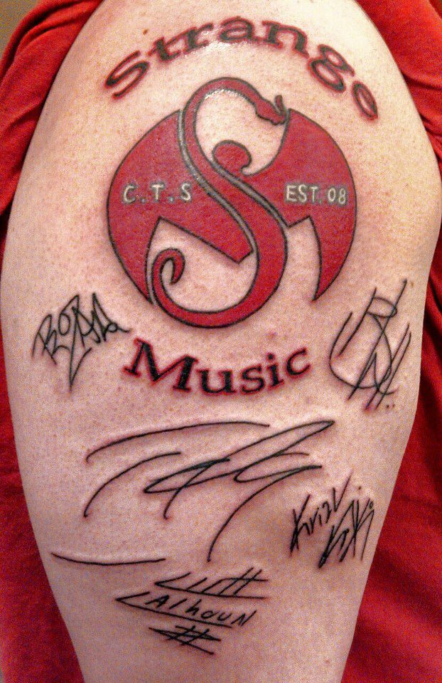 Strange Music Tattoo With Autographs By 2barquack On Deviantart