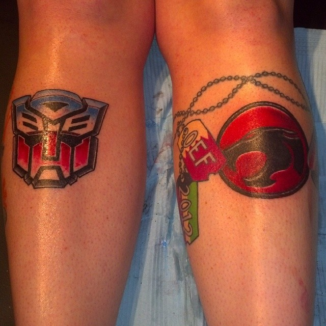 Matching Tats with wife, Autobot Thundercats by 2barquack