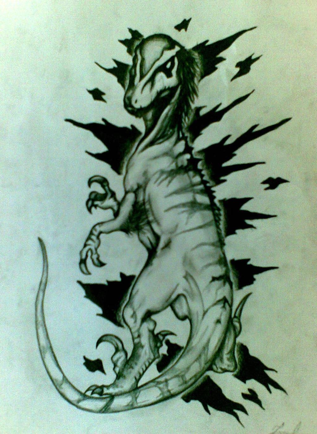 Velociraptor Drawing by JuanIglesias90 on DeviantArt