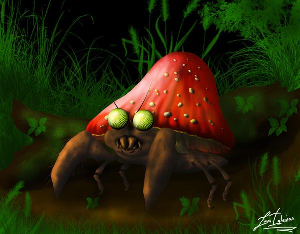 Pokemon Parasect by JuanIglesias90