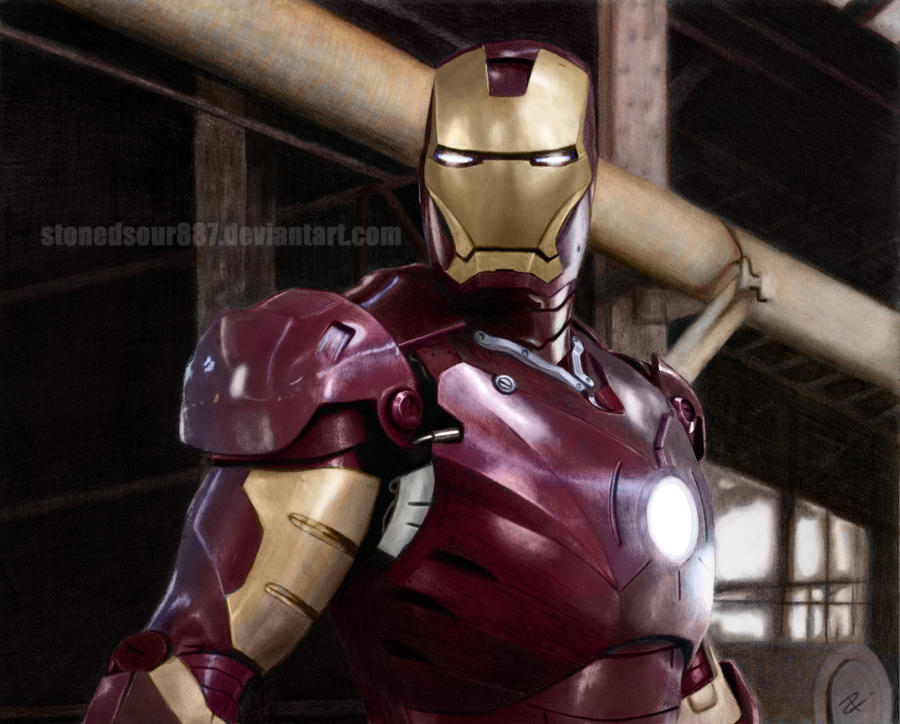Iron man (COLORED) by stonedsour887