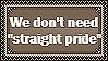 Straight Pride by Buniis