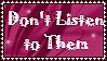 Dont listen by Buniis