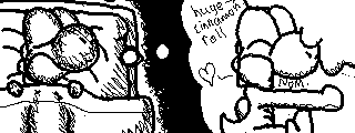 Miiverse Drawing: Sweet Dreams by ThatCuteDinosaur
