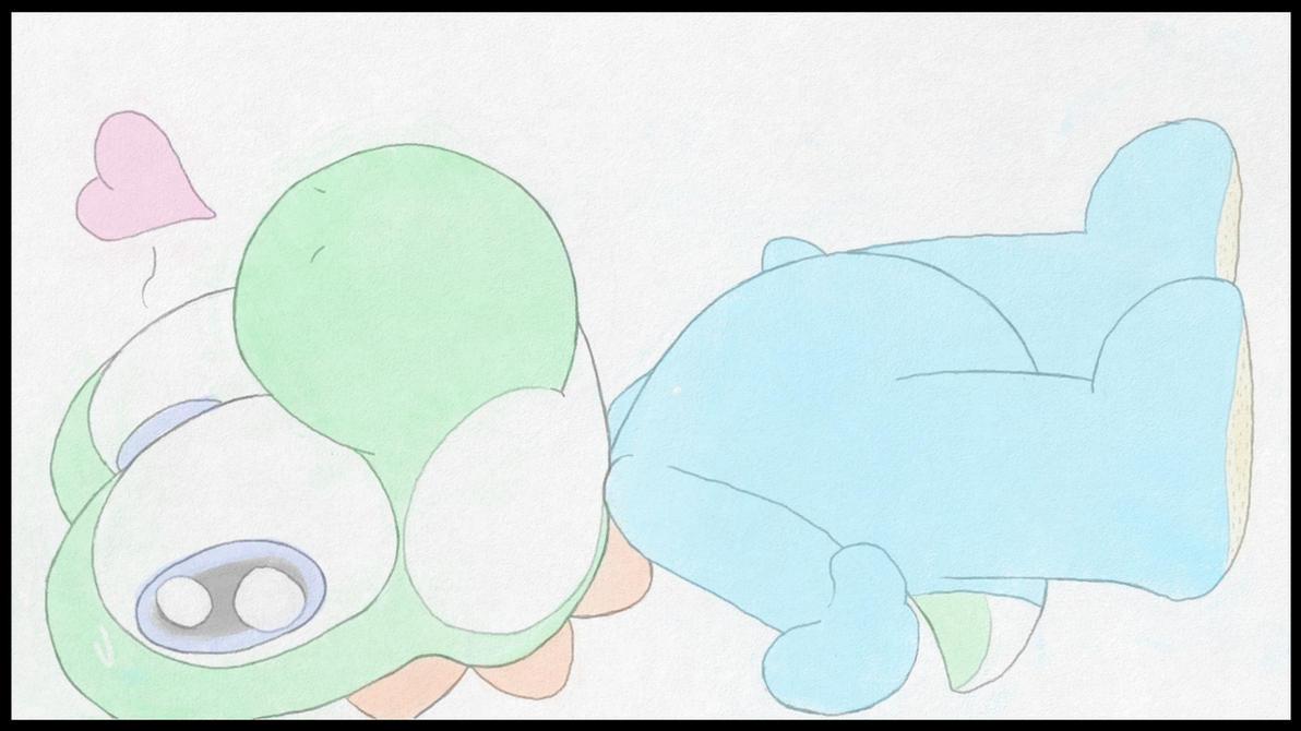 Yoshi in Pajamas by ThatCuteDinosaur