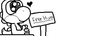 Miiverse Drawing: Free Hugs (Recreation) by ThatCuteDinosaur