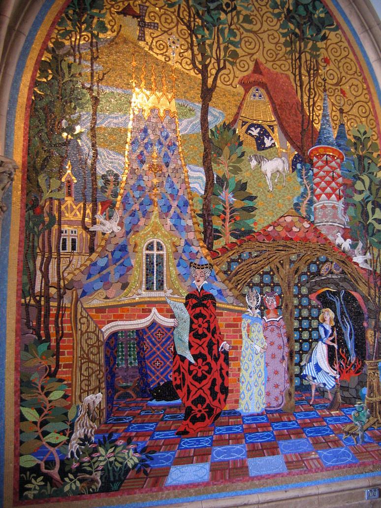 Mk cinderella castle mural 1 by aretestock on deviantart for Castle mural wallpaper