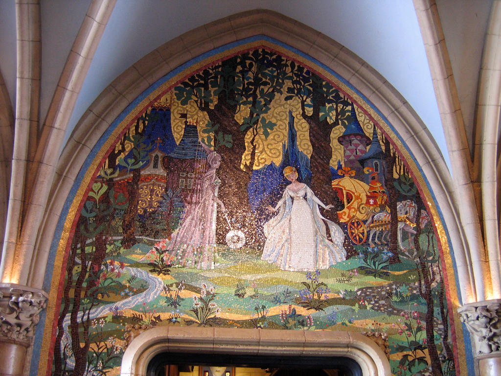 Mk cinderella castle mural 3 by aretestock on deviantart for Cinderella wall mural