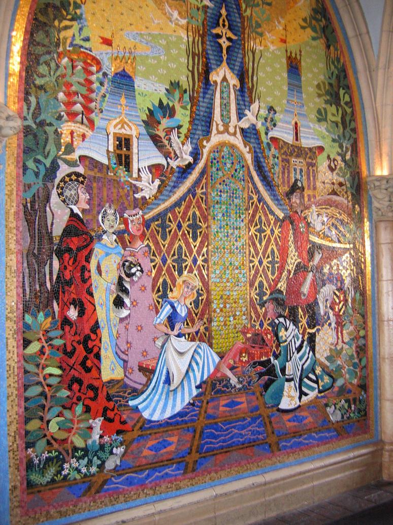 Mk cinderella castle mural 6 by aretestock on deviantart for Disney castle mural wallpaper