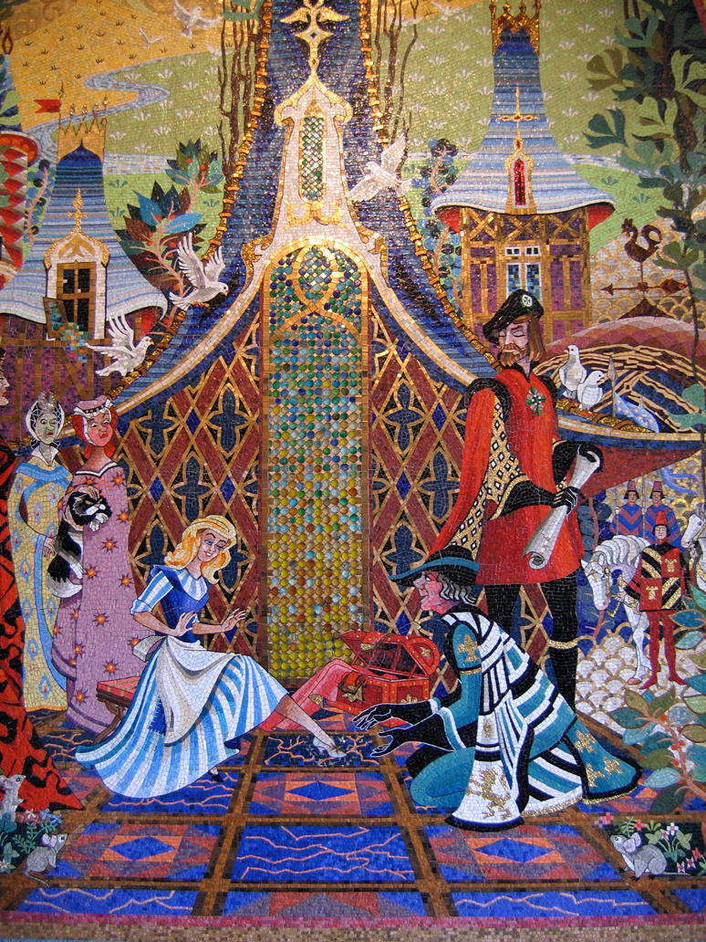 Mk cinderella castle mural 8 by aretestock on deviantart for Disney princess castle mural