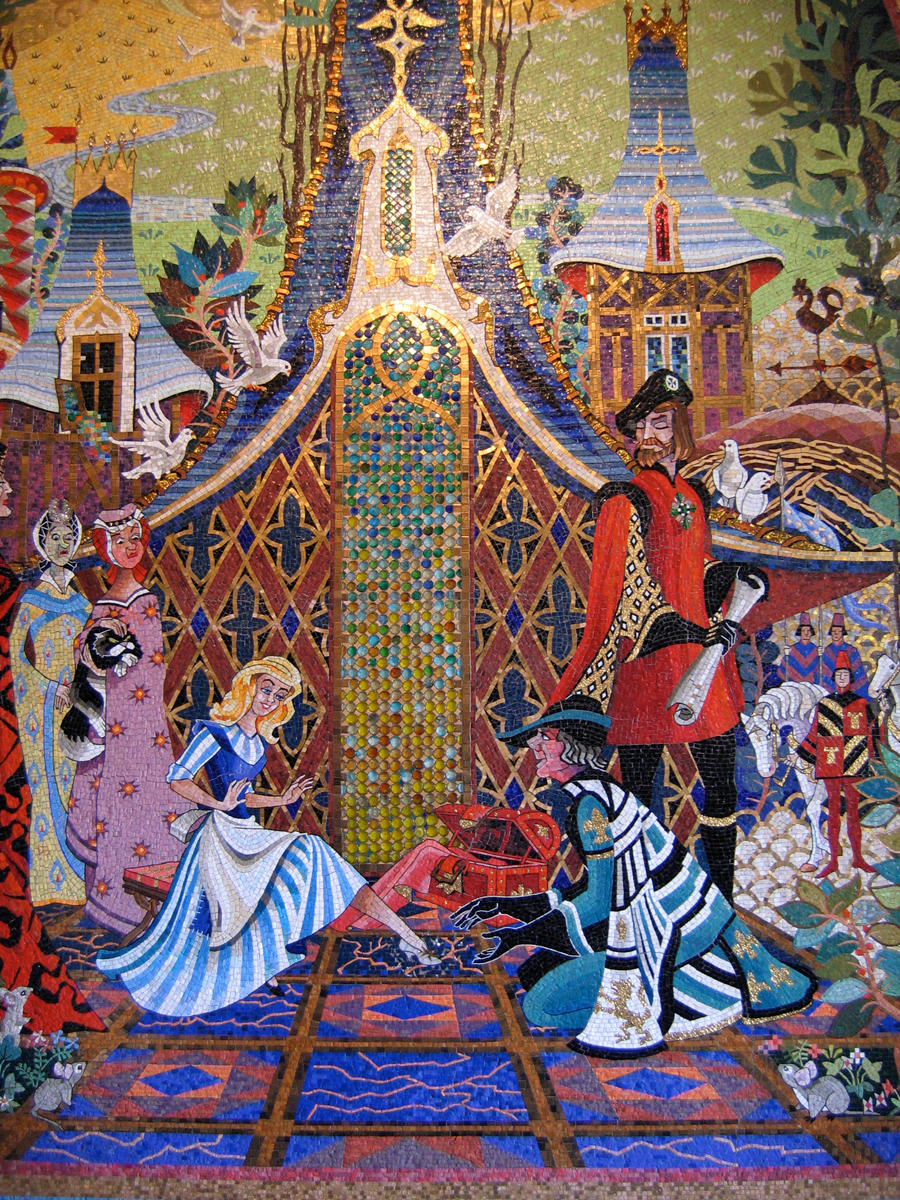 Mk cinderella castle mural 8 by aretestock on deviantart for Cinderella castle wall mural