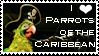 I Love Parrots o.t. Caribbean by AreteStock