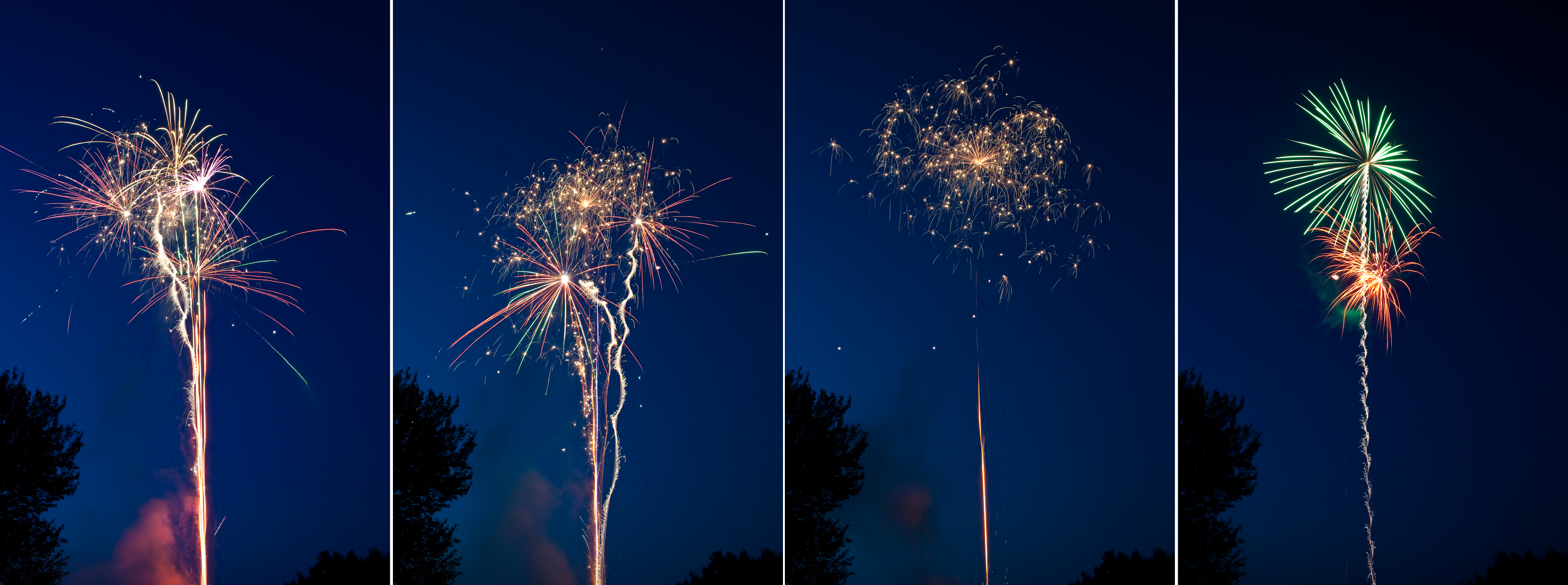 4th of July Fireworks Stock 6 by AreteStock