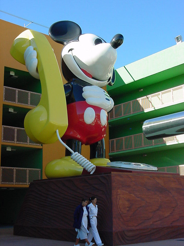 Pop Century Mickey Telephone by AreteStock