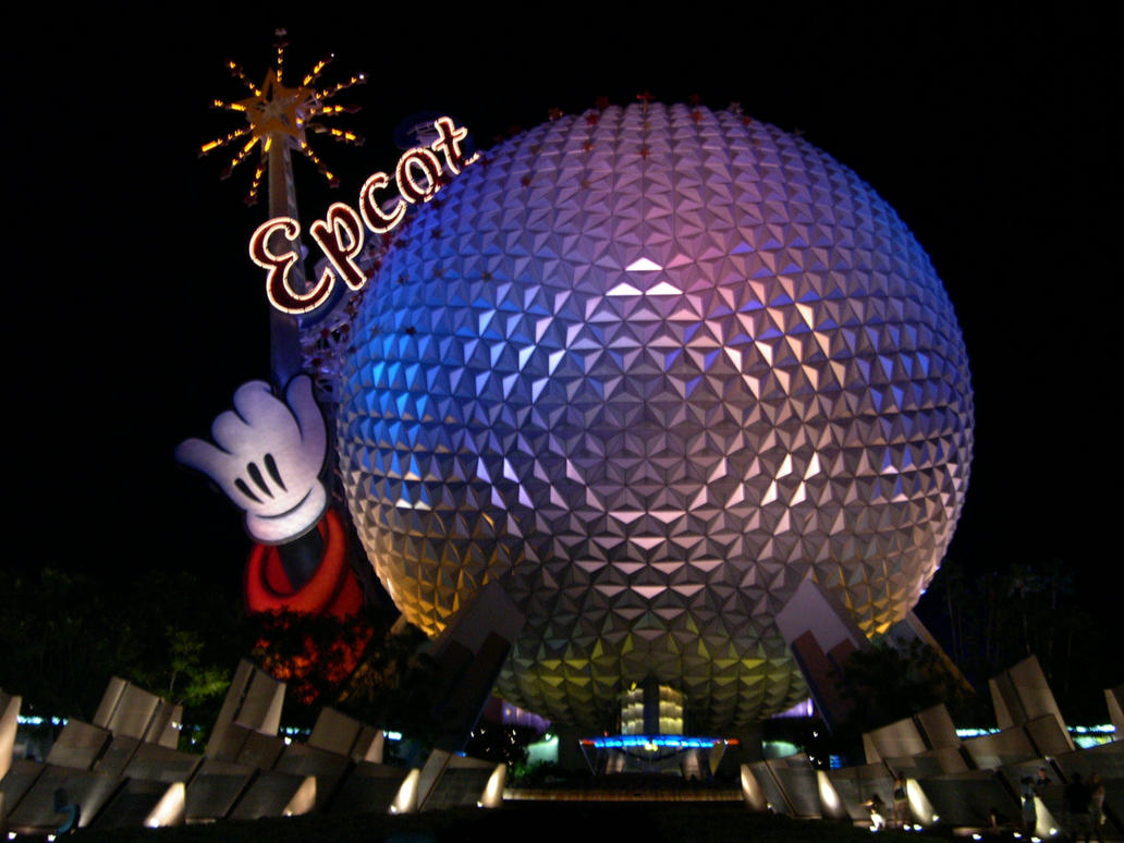 EPCOT Spaceship Earth Night 9 by AreteStockEpcot Spaceship Earth Wallpaper