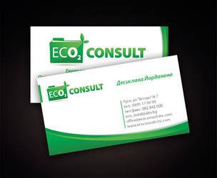 eco consult business card by mashine