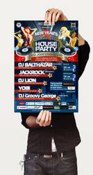 New Year House party poster by mashine