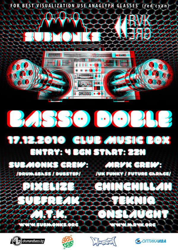 3D anaglyph poster by mashine