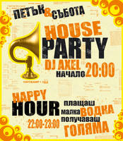 house event poster by mashine
