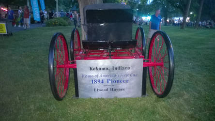 Horse drawn wage from the front