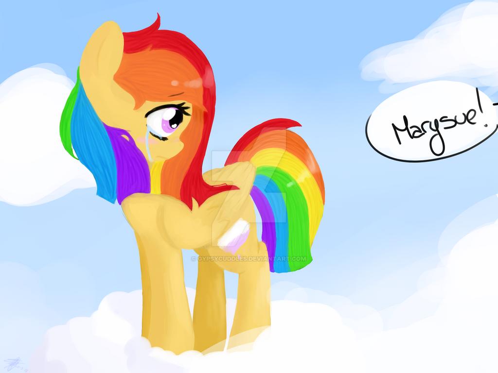 Rainbow pony - OC by GypsyCuddles