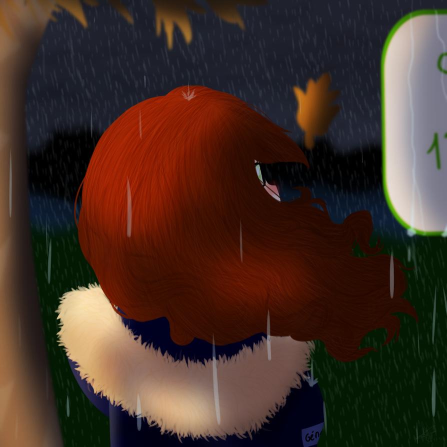 I forgot my umbrella... by GypsyCuddles