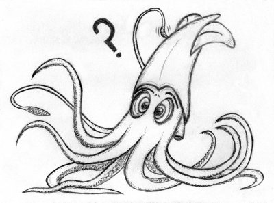 Norman the Cross-Eyed Squid by atomicsnarl