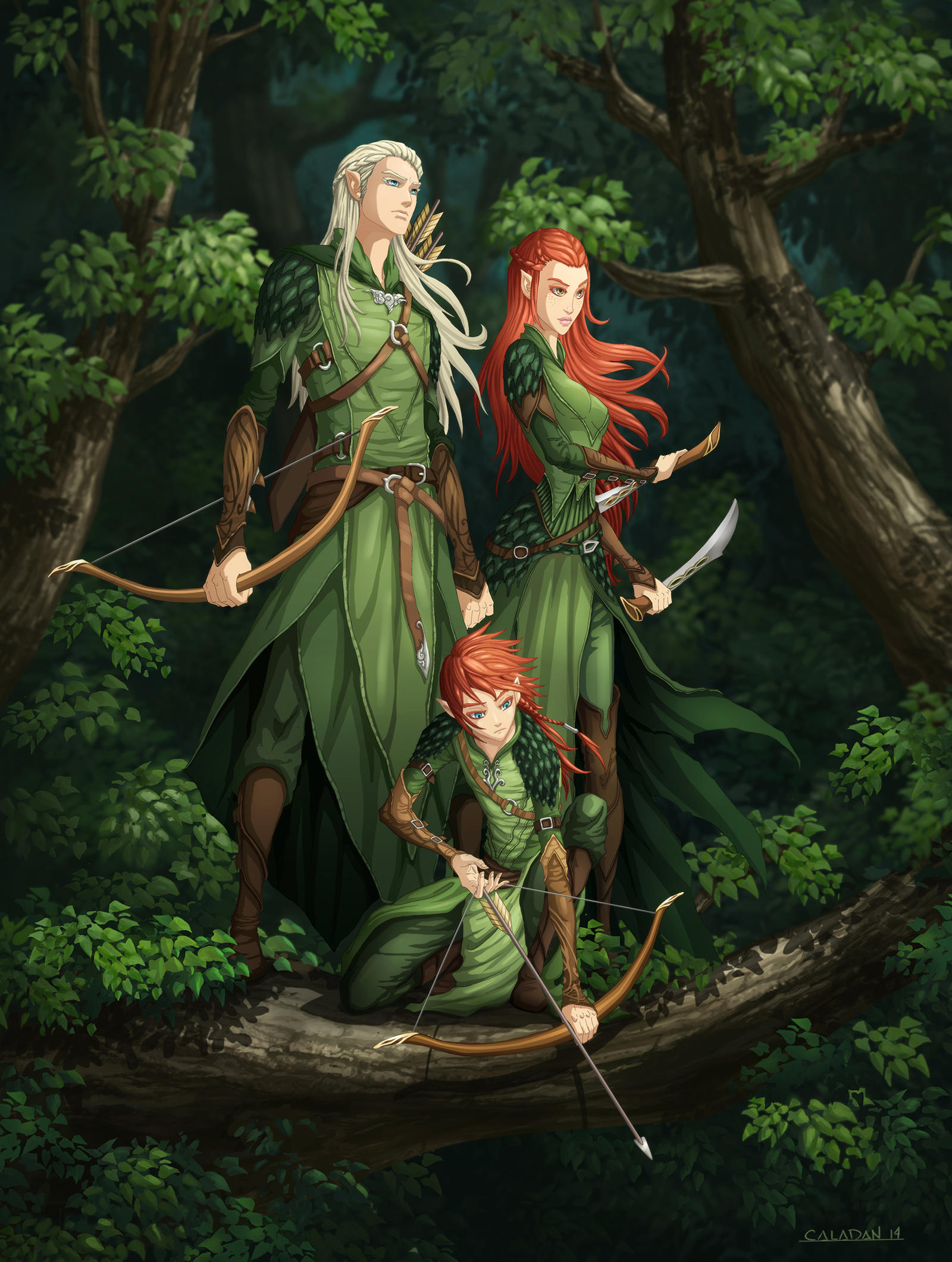 Legolas, Tauriel, and their son by hueco-mundo