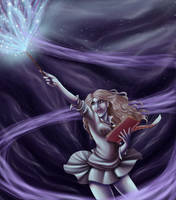Hermione Kicks Srs Ass by Sarky-Sparky