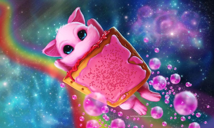 Rainbow Pop Tart Space Mew! by Sarky-Sparky