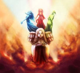 Hylian Goddesses by Sarky-Sparky