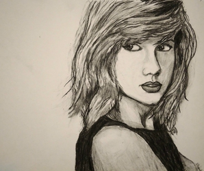 Taylor Swift w charcoal by AnnaBubblegum