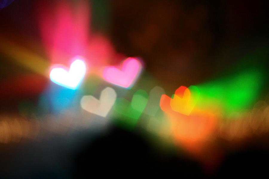 colourful hearts by clashed