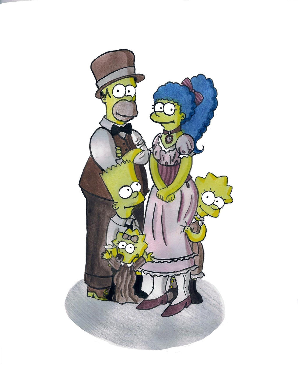 Steampunked Simpsons by TheEvanescenceBegins