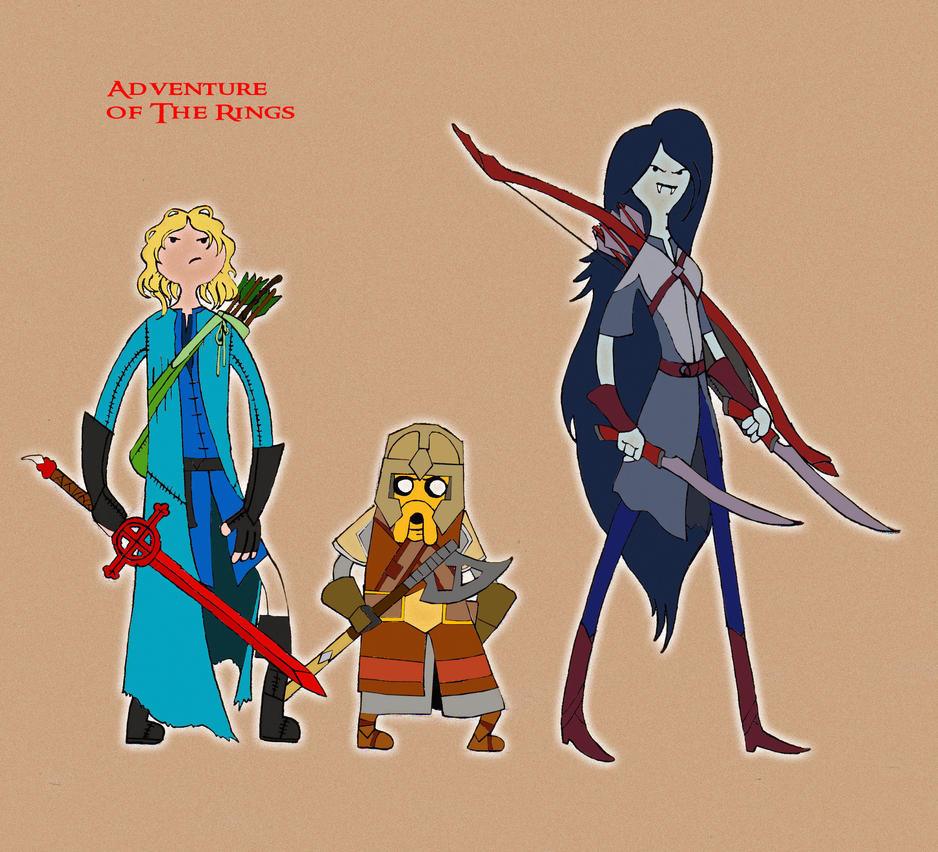 Adventure Time/Lord Of The Rings Crossover. By