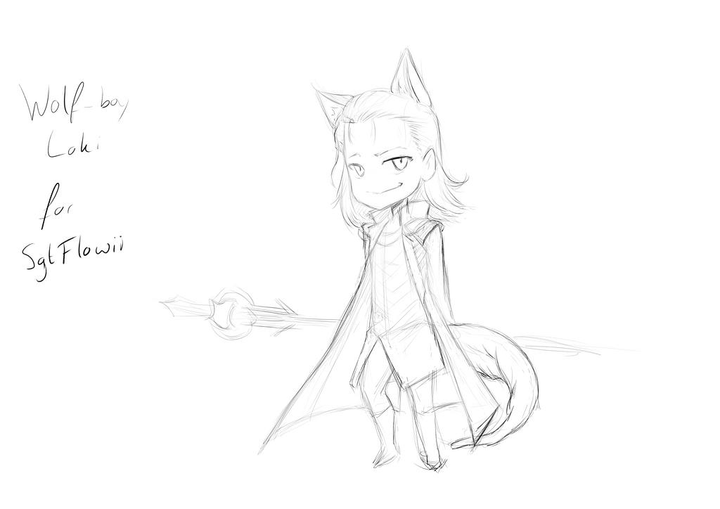 Appreciation Day: Wolf-boy Loki for SgtFlowii by ARHDian