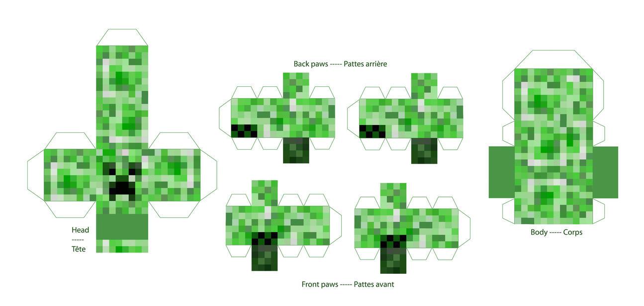 Как в minecraft сделать крипера из