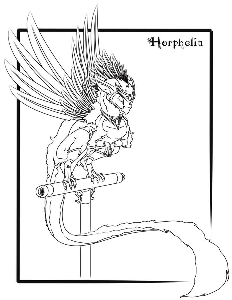 Paradise Parrot Dragon line by Horphelia