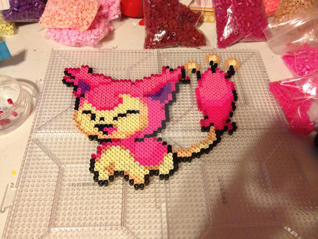 Pokemon Skitty Perler Sprite by PetitePikaPika