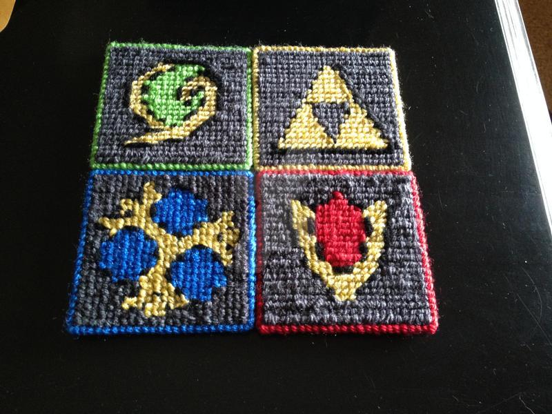 Legend of Zelda Spiritual Stones Coasters by PetitePikaPika