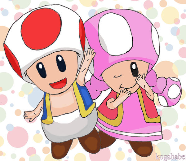 Toad and Toadette by kogababe on DeviantArt - photo#35